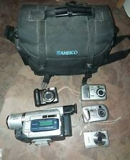 ¡ Sony Handycam DCR-TRV520 Digital-8 Camcorder ₩/ AMBICO Bag & 4 other cameras