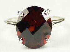 GARNET Sterling Silver Ladies Ring -Handmade • SR055