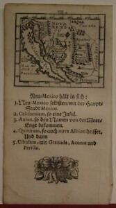 CALIFORNIA AS AN ISLAND UNITED STATES 1702 MÜLLER UNUSUAL ANTIQUE MINIATURE MAP