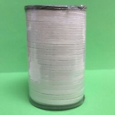 "White Braided Elastic 1/4"" inch-1roll (approx 144yds)"