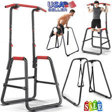 Power Tower Workout Dip Station Pull Up Gym Training Equipment Stretch Machine Q