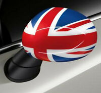 OEM Mini Cooper R50 R53 R52 Driver & Passenger Side Mirror Covers Union Jack