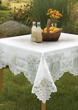 """Heritage Lace HL-5858W 58"""" x 58 in. Heirloom Tablecloth White NWT"""