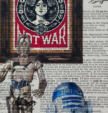 R2D2 Capo vs Obey - Shepard Fairey - dictionary page art print gift -