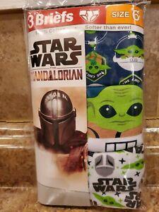 Star Wars The Mandalorian • Kids 3 briefs •  size 6 • Baby Yoda