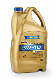 RAVENOL SVS Standard Viscosity Synto Oil SAE 5W-40 5 L