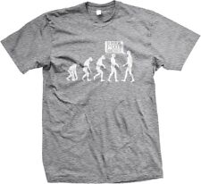 Evolution Go Back We F**Ked Everything Up Funny Humor Stupid Mens T-shirt