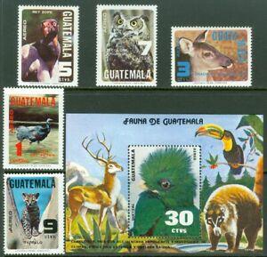 EDW1949SELL : GUATEMALA 1979 Scott #C675-80 Animals. Cplt set. VF, MOG. Cat $40.