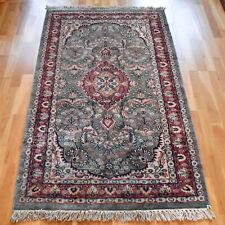 Silk Handmade Vintage Traditional Oriental Wool Rug 160 X 95cm