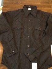 shirt, mans, poly/wool,black military, size 15 1/2x 36 Navy