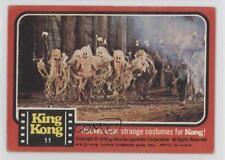 1976 Topps King Kong #11 Natives wear strange costumes for Kong! Card z6d