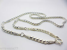 5 Hoop Buddha Amulet Chain  THAI BAHT WHITE GOLD GP NECKLACE 26 Inch Jewelry