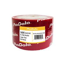 50 PC PioData 16X 4.7 GB DVD-R Logo Top Disc Blank Media - 832-810SA-MAT