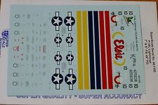 Microscale Decal 1:48 Scale #48-1193 / P-38L Lightnings: 7th & 9th FS/ 49th FG