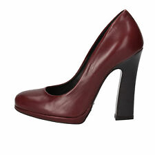 scarpe donna FABI 36,5 decolte bordeaux pelle AE757-B