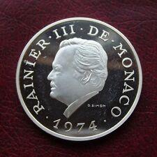 Monaco 1974 silver proof 100 francs