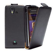 Sony Ericsson Xperia RAY ST18i - Housse Etui Clapet NOIR + 1 protection écran