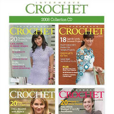 4 Issues on CD: INTERWEAVE CROCHET MAGAZINE 2008 Patterns Pullovers Cardigans