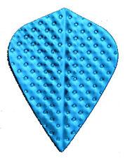 Amerithon - The Best Dart Flights- 5 Metallic Blue Embossed Kite Shaped Sets
