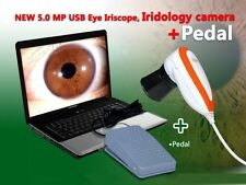 5.0 MP USB Pedal Iriscope Iris Analyzer Iridology Camera 990U &English Software