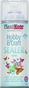 PlastiKote Hobby & Craft Sealer 400ml Clear Gloss Satin or Matt to choose from