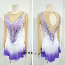 Purple Figure Skating Dress Girls Competition Custom Ice Skating Dress Kids G444