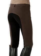 Größe 42 Frauen Damen wie echt Leder Vollbesatz Reithose braun schwarz PFIFF