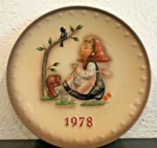 Hummel Plate, 8th Annual Collector Plate, 1978, #271 (Tmk-5) Retail Value $99
