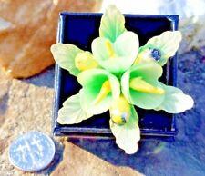 Upcycled/Repurposed, Adjustable Band, Ooak Vintage Flower Ring, Large,