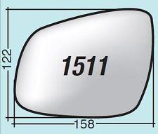 Vetro specchietto Chevrolet sinistro termico cromato curvo + piattello 1511SPR