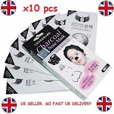 X10 PCS Charcoal Nose Strip Blackhead Remover Face Deep Cleansing Peel Mask