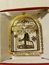Mount Roberts Tramway Juneau Alaska Brass Christmas Ornament