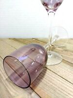 """Purple Champagne Wine Glasses Set of 2 7"""" 3 oz. VTG"""