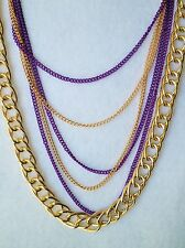 Collana CATENA 6 in Viola & Gold Tone circa 81cm 32""
