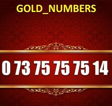 GOLD MOBILE PHONE NUMBER MEMORABLE GOLDEN EASY VIP 07375757514