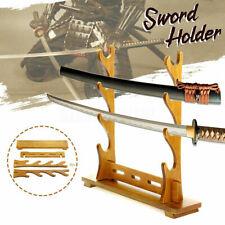 Wood Samurai Sword Stand Katana Wakizashi Tanto Holder Display Rack Four Layer