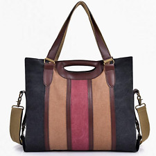 Large Colour Womens Canvas Bags Cross Body Shoulder Messenger Satchel Tote Bag