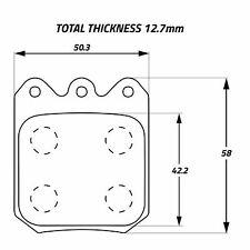 Ferodo 4 X 4003 competencia compuesto/Raza Pastillas de freno para wilwood Calibradores De 6812