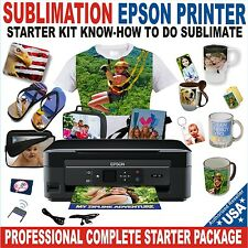 Sublimation Printer Epson Starter Kit  PLUS Bulk Sublimation Ink Paper Subli