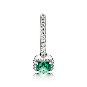 UK Pandora Timeless Elegance Green Ring 190947NBT CZ50-58 Silver S925  Authentic