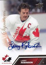 2013-14 UD TEAM CANADA LARRY ROBINSON AUTO SIGNATURES #148 13-14