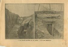 WWI Poilus Tranchées étayé par du bois Poste Téléphone Somme 1915 ILLUSTRATION