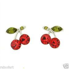 W Swarovski Crystal Cherries Red Charm New Jewelry Cherry Earrings