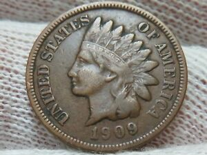 1909 Indian Head Cent Penny  FREE SHIPPING