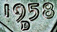 1958 D WHEAT CENT SUPER STRONG DDO & SLIGHT DDR RPM! BEAUTIFUL UNC BU MS+++ COIN
