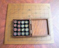 1½  INCH XIANGQI DIAM. CHINESE CHESS 3.7 cm GENUINE EBONY PIECES 731