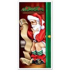 Christmas Santa Claus Holiday Bathroom Door Cover Funny Decor Decoration NEW