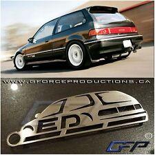 88-91 Honda Civic ED hatch JDM Stainless Steel metal Key chain Euro EF EF8 EE