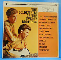 GOLDEN HITS OF THE EVERLY BROTHERS '62 STEREO ORIGINAL NICE CONDITION! VG/VG+!!D
