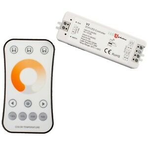 LEDupdates 6000K to 4000K to 3000K CCT controller for LED Strips light + Remote